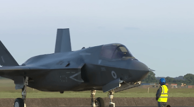 Watch: Britain's First F-35 Stealth Fighters at RAF Marham from South Carolina