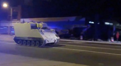 Soldier steals armored personnel carrier, leads cops on 2 hour chase