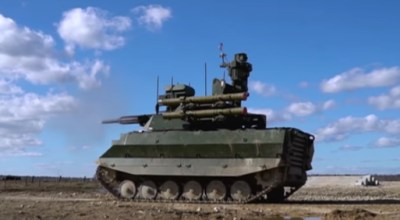 Russia was happy to report that their tank drone fought in Syria (forgot to mention it doesn't work)