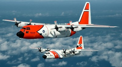 Watch: HC-130 Hercules Air Crew Spots Five Boaters in the Water Clinging to Debris