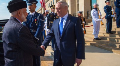 Secretary of Defense Mattis meets with Omani Foreign Minister