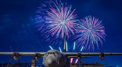 Picture of the Day: C-130J Super Hercules and Fireworks Display at Yokota Air Base, Japan