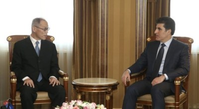 Prime Minister Barzani meets with Japan's Ambassador Iwai to discuss financial assistance