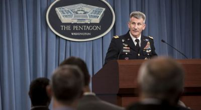 Army Gen. John W. Nicholson Jr., the Resolute Support and U.S. Forces-Afghanistan commander, briefs reporters at the Pentagon, Dec. 2, 2016. | DOD by Air Force Staff Sgt. Jette Carr