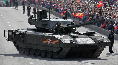 "Main battle tank T-14 object 148 Armata in the streets of Moscow on the way to the Red Square | By Vitaly V. Kuzmin [<a href=""https://creativecommons.org/licenses/by-sa/4.0"">CC BY-SA 4.0</a>], via Wikimedia Commons"