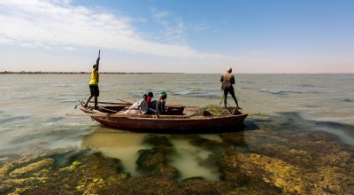 In this Wednesday, April 15, 2015 file photo, Sudanese fishermen sail through river algae while fishing on the Nile River on the outskirts of Khartoum, Sudan. Egypt's pro-government media is vilifying neighboring Sudan over its expanding ties with Turkey and Qatar, Cairo's regional nemesis, saying the three are conspiring against Egypt. | AP Photo/Mosa'ab Elshamy, File