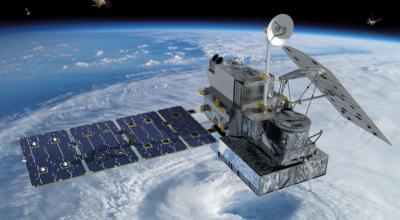 Visualization of the GPM Core Observatory satellite orbiting the planet earth. | NASA