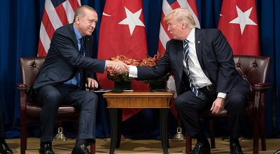 President Donald J. Trump and President Recep Tayyip Erdoğan of Turkey at the United Nations General Assembly | Official White House Photo by Shealah Craighead