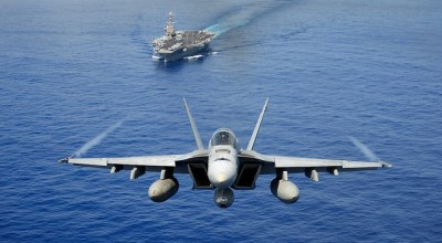 U.S. Navy F/A-18 Super Hornet courtesy of the Department of Defense