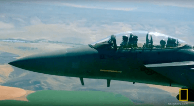 Watch | Three F-15 Strike Eagles make high speed intercept over Idaho