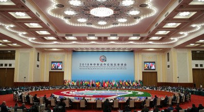 In this Sept. 4, 2018, file photo, Chinese President Xi Jinping speaks as he chairs the 2018 Beijing Summit Of The Forum On China-Africa Cooperation - Round Table Conference at the Great Hall of the People in Beijing. A wave of Chinese-financed railways and other trade links in Africa and Asia that have prompted worries about debt and Beijing's ambitions is reducing politically dangerous inequality between regions within countries, a multinational group of researchers said Tuesday, Sept. 11, 2018. (Lintao Zhang/Pool photo via AP, File)