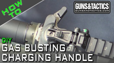 AR15 Charging handle mod for suppressed rifle