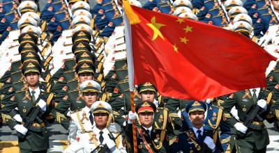 Soldiers of the People's Liberation Army of China in Moscow, courtesy of the Kremlin
