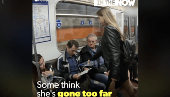 """The latest Russian propaganda in your news feed: The viral """"Manspreading"""" video"""