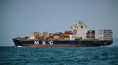 MSC cargo ship sailing/ Vidar Nordli Mathisen on Unsplash