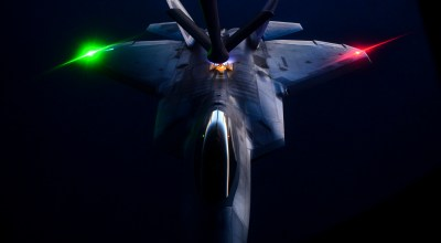 The Pic of the Day: F-22 Raptor taking a drink