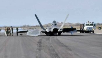 Air Force F-22 belly flop at Top Gun caused by pilot error and overconfidence, says report