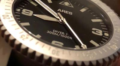 ARES Watch Co. DIVER-1 Mission Timer Watch