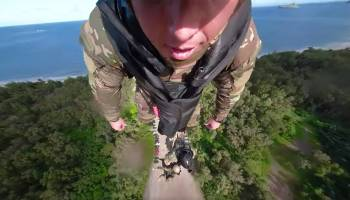 Watch: 360 degree video shows what it's like to hitch a ride dangling under a Blackhawk