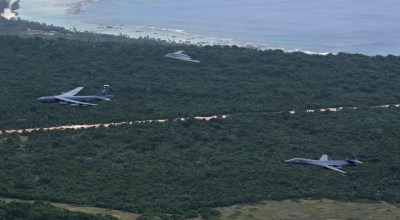 Watch: America's 3 strategic bombers flying in one spectacular formation