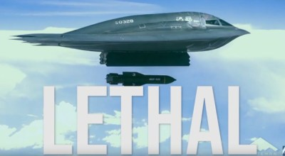 Watch: New footage of B-2 Spirit dropping two of the largest bunker busters ever built