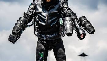 Watch: Royal Marine inventor uses jet pack on commando assault course