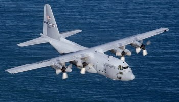 Watch: Incredible footage of a massive C-130 landing and taking off from a carrier at sea