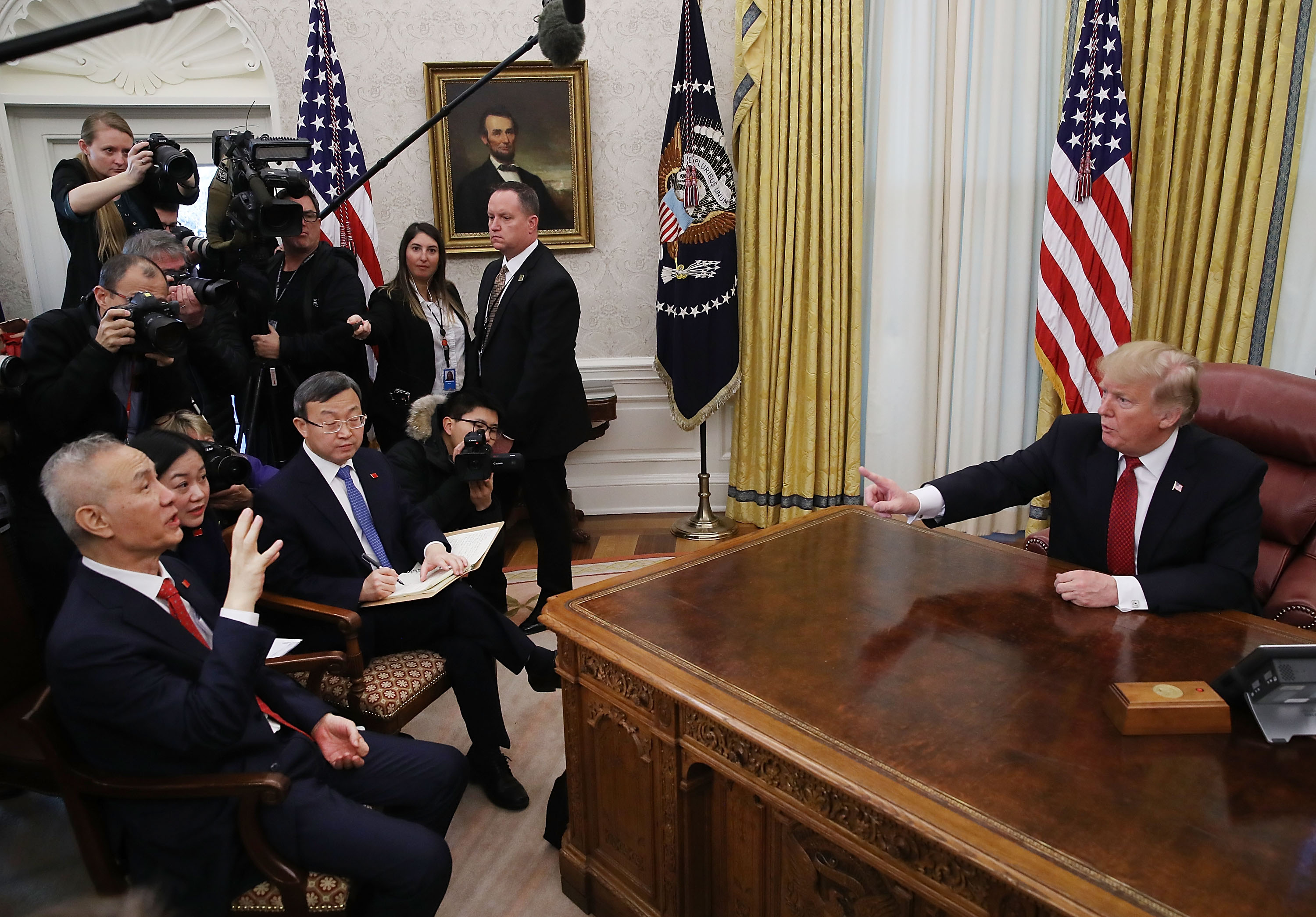 The Pic of the Day: President Trump Meets With China's Vice Premier Liu He