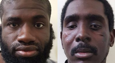 Warren Christopher Clark and Zaid Abed al-Hamed, two Americans arrested by the SDF / images courtesy of the SDF press office.