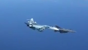 WATCH: New footage surfaces online of Russian Su-27 banking into US Air Force F-15 during intercept