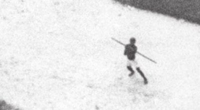 Declassified CIA photo shows African civilian throwing spear at low-flying US recon plane in the '60s