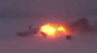 Watch: Shocking footage of Russian Tu-22M3 Bomber crashing in the Arctic earlier this week
