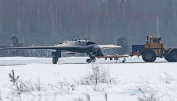 New images surface of Russia's new stealthy combat drone and it doesn't look very stealthy at all