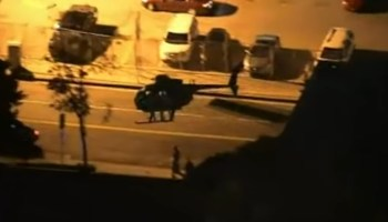 WATCH: Special Operations Little Birds and Black Hawks under cover of darkness in downtown LA
