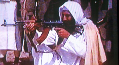Osama bin Laden is seen in this undated photo taken from a television image. (Photo by Getty Images).