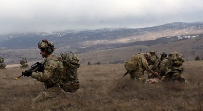 U.S. Airmen from the 67th Special Operations Squadron assigned to the 352nd Special Operations Wing, stationed at RAF Mildenhall, England, teamed up U.S. Airmen from the 56th and 57th Air Rescue Squadrons, based out of Aviano Air Base, Italy, during a personnel recovery exercise Feb. 5, 2019, in Croatia. (U.S. Army photo by Sgt. 1st Class Angelica G. Golindano).