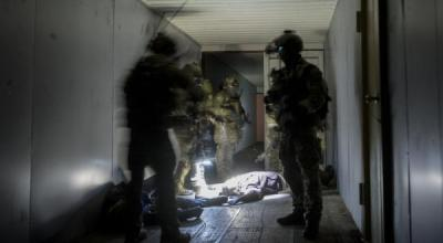 U.S. Marine Corps Raiders with the 3rd Marine Raider Battalion participate in training at Eglin Range, Fla., May 30, 2018. Raiders infiltrated an objective by 1st Special Operations Support Squadron watercraft and captured simulated high-value targets. (Portions of this image were obscured for security reasons). (Photo: U.S. Air Force  Senior Airman Joseph Pick)