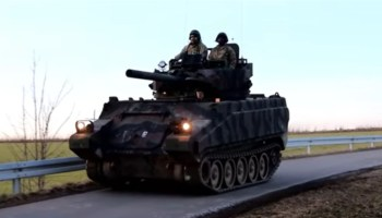 Watch: US troops add fiberglass and steel turrets to old Armored Personnel Carriers to train against Russian 'tanks'