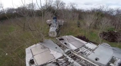 That time a YouTuber found F-14 Tomcats and an F-4 Phantom rotting in the woods