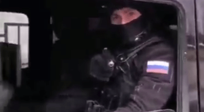 Russian police officer/ Screenshot of Facebook video