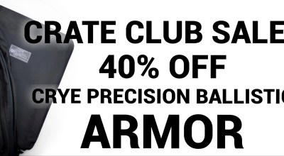 Turn your backpack into a ballistic vest with 40% Crye Precision Ballistic Soft Armor Inserts from Crate Club