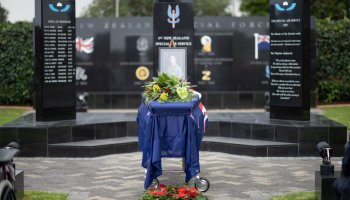 New Zealand Special Air Service operators honor fallen brother