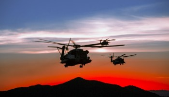The Pic of the Day: Marine choppers flying high