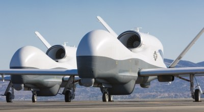 Global Hawk drones. Photo: Northrop Grumman