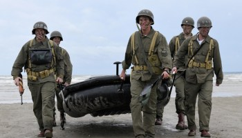 Navy SEALs assault Omaha Beach