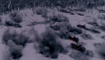 Watch: This insane drone footage puts you inside a rocket artillery barrage