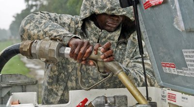 Louisiana National Guard soldier during response operations in Louisiana. Photo: Louisiana National Guard via Twitter.