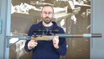 A rare look at a Swiss P-26 'anti-material' rifle made for stay-behind cells