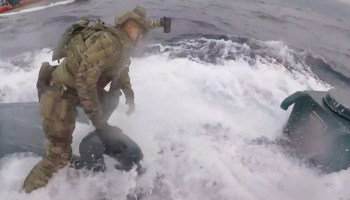 Watch the U.S. Coast Guard board a mini-sub smuggling 17,000 lbs of cocaine