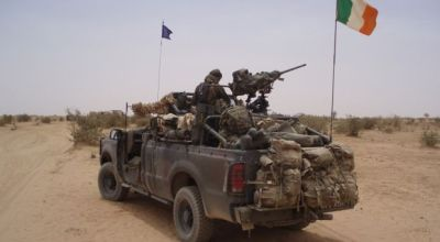 An Irish SOF vehicle in the Sahel region. (Image courtesy of YouTube.com).